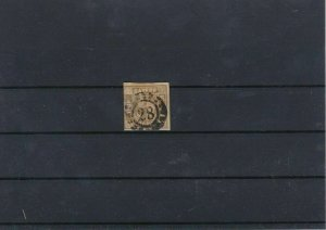 Balvaria 1850-62 9k Yellow Brown Used Stamp CAT£25 Ref: R7515