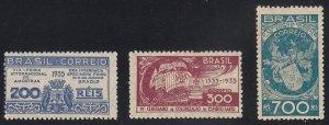 Brazil - 1935 - SC 411-13 - LH - Complete set + 1