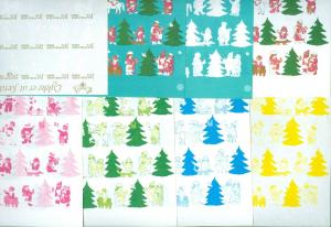 Denmark. Christmas Seal 1980.Comp. Set 9 Sheet. Scale/Proof Print. Imperforated