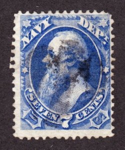 US O39 7c Navy Department Used F-VF SCV $230