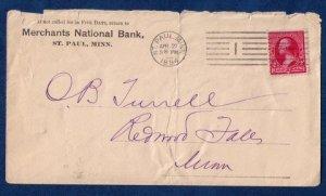 US Sc 220 Postal History Cover St.Paul Machine Cancel (1894):