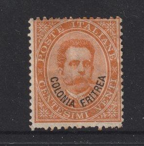 Eritrea (Italian) a MH 20c orange from 1893