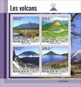 2021/05- DJIBOUTI - VOLCANOES      4V complet set    MNH ** T