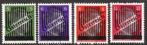 Stamp Austria Germany SC 398,400-2 1945 WWII 3rd Reich Hitler Vienna Hitler Used