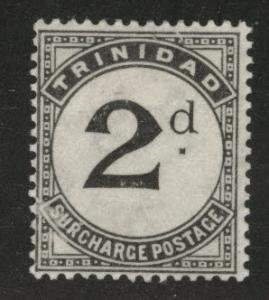 Trinidad Scott J11 MH* postage due stamp wmk 3 1906 CV$37