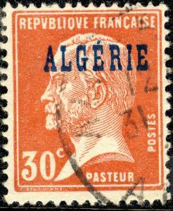 ALGÉRIE / ALGERIA 1924 30c red Pasteur Yv.15/Mi.11 - Very Fine Used