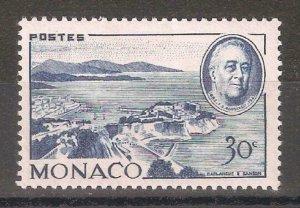 Monaco 1946, US Presidents, Franklin D Roosevelt 30c, Scott # 199,VF MLH*OG