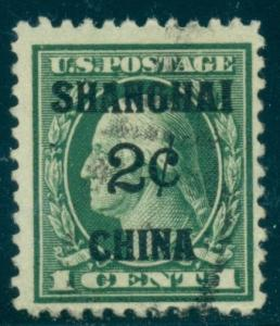 US #K1 Offices in China, 2¢ on 1¢, used, VF, Scott $70.00