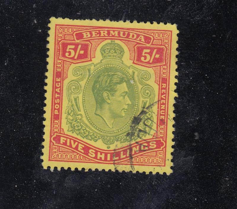 BERMUDA # 125 VF-KGV 5s LIGHTLY CANCELLED VERY CLEAN LOOKING