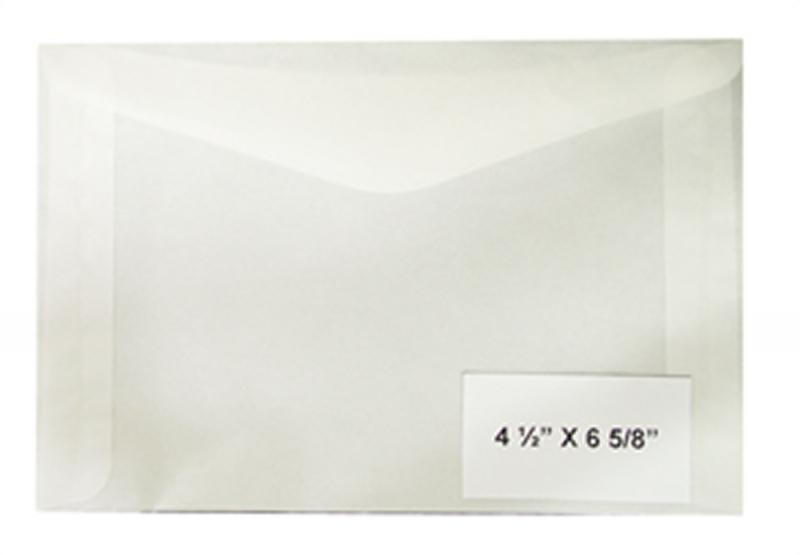 100 count - Glassine Envelopes #8 - ACID FREE - size 4 1/2 x 6 5/8