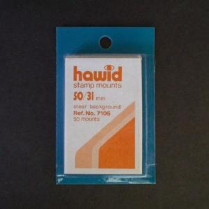 Hawid Stamp Mounts Size 50/31 CLEAR Pack of 50