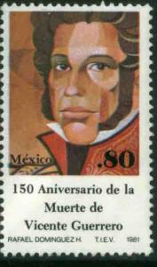 MEXICO 1224, Sesquicentennial death of Vicente Guerrero. MINT, NH. VF.