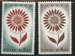 GREECE Scott 801-802 MNH** 1964 Europa set
