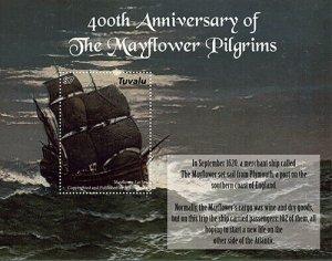 2020/12- TUVALU - MAYFLOWER 400TH    1V  complet set    MNH ** T