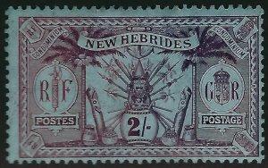 British New Hebrides Sc#24 Unused F-VF hr...Colonies are Hot!