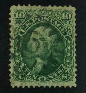 MOMEN: US STAMPS #68 USED LOT #54340