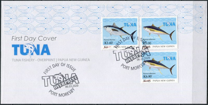 Papua New Guinea 2020. Tuna Fishery. Overprint (Mint) First Day Cover