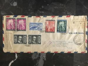 1949 Vatican cover to USA  Multi Franked  See Back!