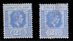 Leeward Islands 1938 KGVI 2½d bright blue SG 105 mint CV £35