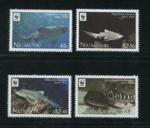 2012 Tonga Niuafo'ou Zebra Sharks Postage Stamps #271-274 Mint Never Hinged Set