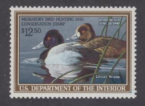 RW56 1989 Federal Duck Stamp VF OGNH- No hinge or Faults- Under FACE-OFFER?