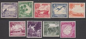NAURU 1954 Definitive set MNH..............................................29053