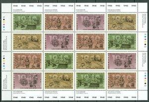 CANADA 1940 WW 2  #1301a UNFOLDED PLATE SHEET...MNH...$18.00