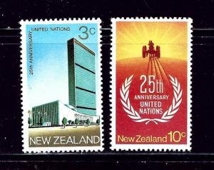 New Zealand 462-63 MNH 1970 United Nations Anniversary