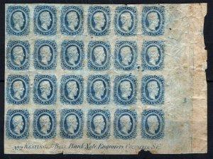 CSA Sc 11 Blue 10¢ Keatinge & Ball Block of 24 Hinges Original Gum