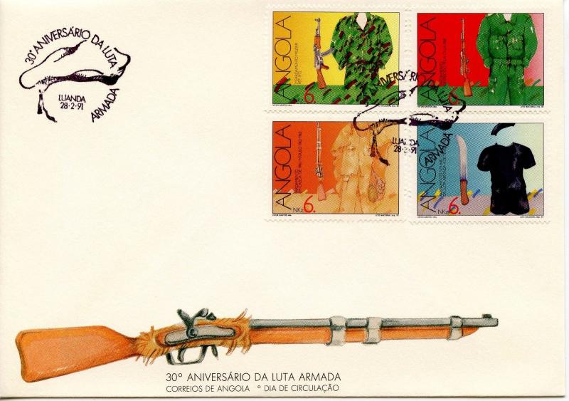 ANGOLA - 1991 The 30th Anniversary of the Armed Independence Movement    FDC1266