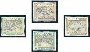 Singapore 749-50 MNH 1996 Old Maps of Singapore (ap6902)