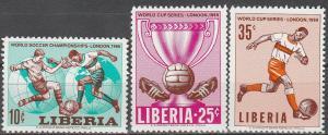 Liberia #444-6  MNH VF (V3406)