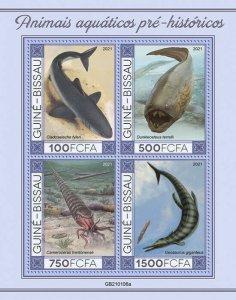 Stamps of GUINEA-BISSAU 2021-  PREHISTORIC WATER ANIMALS 3