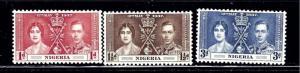 Nigeria 50-52 MNH 1937 KGVI Coronation