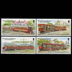 Isle of Man #554-557 MNH CV$3.50 Railway Trailer Van Tunnel