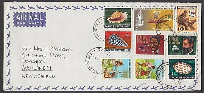 PAPUA NEW GUINEA 1972 Airmail cover Rabaul to New Zealand...................L659