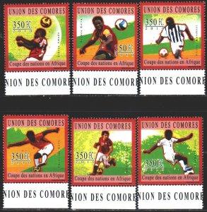 Comoro Islands. 2010. 2838-43. Football. MNH.