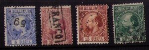 Netherlands (1867) Sc 7-10 Used Nice Cancellations Scott CV $70.00