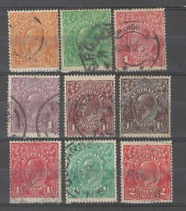 COLLECTION LOT # 4869 AUSTRALIA 9 STAMPS 1914+ CV+$22