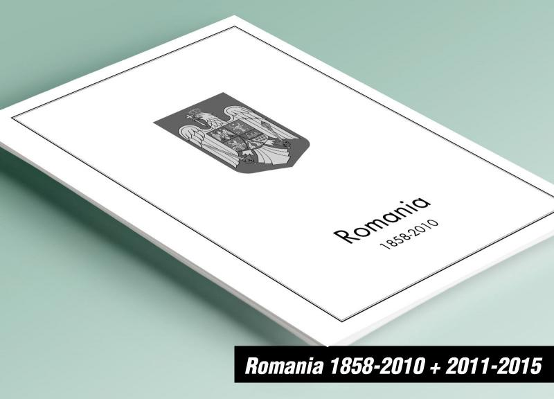 PRINTED ROMANIA 1858-2010 + 2011-2015 STAMP ALBUM PAGES (953 pages)