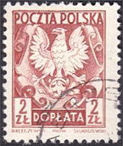 Poland # J133 used ~ 2z Polish Eagle