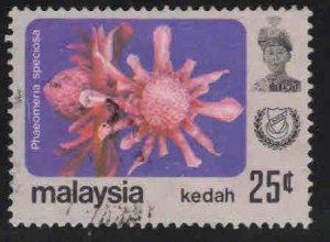 MALAYSIA Kedah Scott 126 Used flower stamp