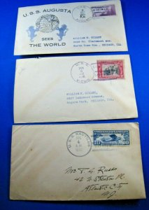 UNITED STATES SUBMARINE COVERS - LOT OF 3
