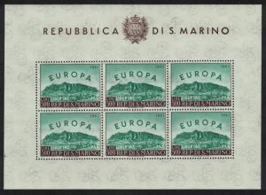 San Marino Europe issue 1960 Sheetlet SG#640 CV£300+