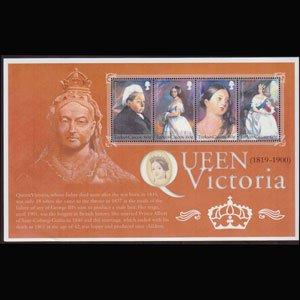 TURKS & CAICOS 2001 - Scott# 1347 Sheet-Queen Victoria NH