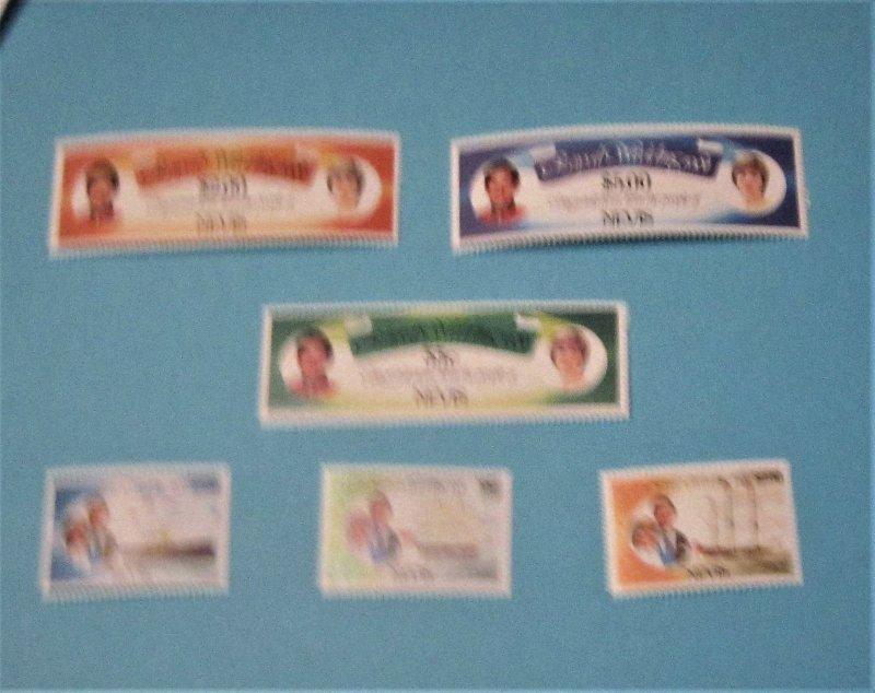 Nevis - 135-40, MNH Set. Prince Charles & Lady Diana. SCV - $4.30