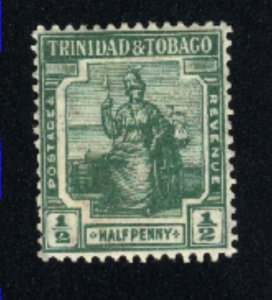 Trinidad & Tobago # 1   Mint  1913 PD