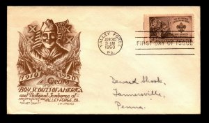 SC# 955 FDC / Staehle Cachet Craft / Addressed - L13458