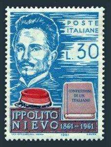 Italy 836 block/4,MNH.Michel 1103. Ippolito Nievo,1831-1861,writer.1961.