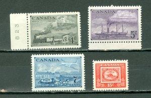 CANADA TRAINS-SHIPS-STAGECOACH-BEAVER #311-14..SET..MNH..$7.00